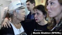 Актриса Марина Клещева и режиссер Варвара Фаер