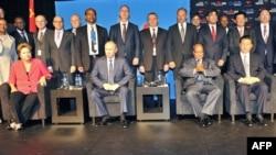 Лидерите на земјите членки на БРИКС на Самитот во Дурбан