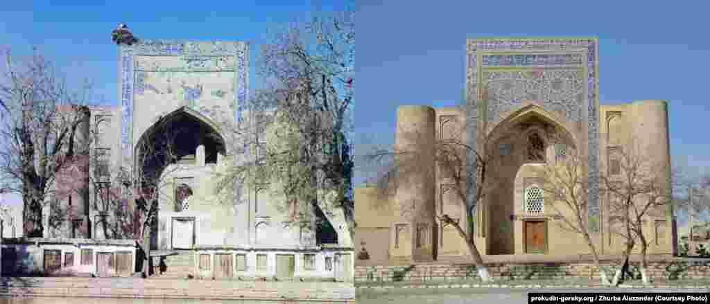 Медресе в Бухаре, в Узбекистане. 1911/2014.