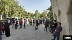 Students on the campus of University of Science and Technology in Tehran. File photo