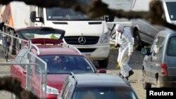 Mașina suspectului de la Anvers