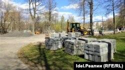 18 мая. Начало строительства парковки.