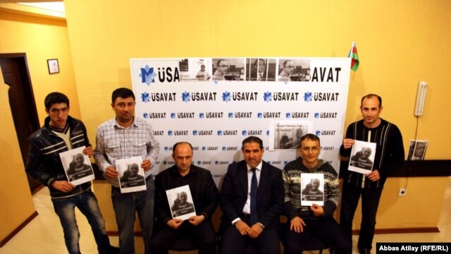 "Participants from ""Yeni Musavat"" who particpated in the April 20 protest"