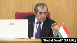 Tajikistan -- Mahmadsaid Ubaydulloev, head of Majlisi Milli, Tajikistan's upper house of parliament, 16Feb2017