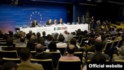 Під час роботи саміту Євросоюзу, Брюссель, 18 червня 2009 р.