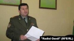 Сафаралӣ Мирзоев, додситони гарнизони ҳарбии Суғд.