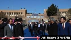 جریان افتتاح راه لاجورد توسط رئیس جمهور غنی در هرات