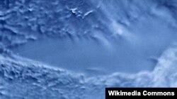 Радарне зображення озера Восток із супутника