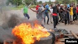 Зимбабведегі наразылық. 15 қаңтар 2019 жыл.