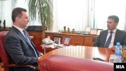 Средба на тогаш премиерот Никола Груевски со лидерот на СДСМ Зоран Заев на 6 јуни 2013