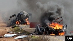خودروهای نظامی اسرائیل که پیش از این در منطقه مزارع شبعا هدف حمله قرار گرفتهاند