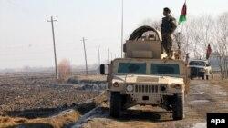 Афганские военные в районе Канама в провинции Кундуз, Афганистан. Иллюстративное фото.