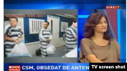 Imagine dintr-o emisiune de la Antena 3