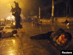 Полиция жестоко расправилась с протестующими в Тбилиси 26 мая 2011 года