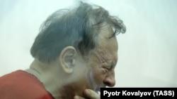 Oleg Sokolov at a court hearing in St. Petersburg on November 11.