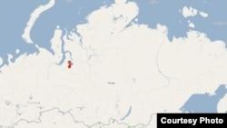 Новый Уренгой на карте России