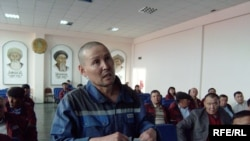 Аштық жариялаған мұнайшы Қ.Оразов. Атырау, 23 сәуір 2010 ж.