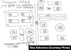 Схема трудового лагеря, рис. Армина Стромберга