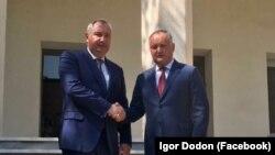 Igor Dodon și Dmitri Rogozin la Teheran