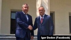 Președintele Igor Dodon cu Dmitri Rogozin la Teheran