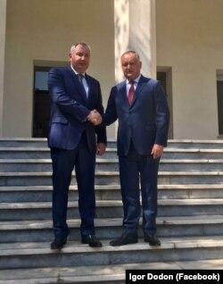 Vicepremierul rus Dmitri Rogozin cu președintele Igor Dodon la Teheran