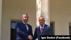 Մոլդովայի նախագահ Իգոր Դոդոնը և Ռուսաստանի փոխվարչապետ Դմիտրի Ռոգոզինը Թեհրանում, 5 օգոստոսի, 2017թ.