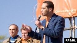 "Гарри Каспаров на митинге ""Солидарности"", 1 мая 2009 г"
