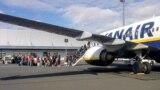 Самолет Ryanair в аэропорту
