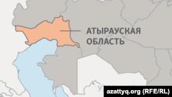 Атырауская область на карте