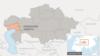 Атырауская область на карте Казахстана.