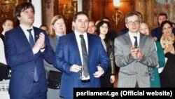 Сделанные на званном обеде в честь грузинского коллеги в Конгрессе заявления, вызвали в Тбилиси особый интерес
