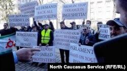 Пикет с требованием отставки главы Ингушетии Юнус-Бека Евкурова, Брюссель, 6 апреля 2019 года