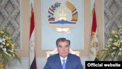 Tajikistan --Emomali Rahmon, the president of Tajikistan during TV appeal, 05Jan2010