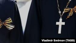 Участник акции «Бессмертный полк» в Иваново