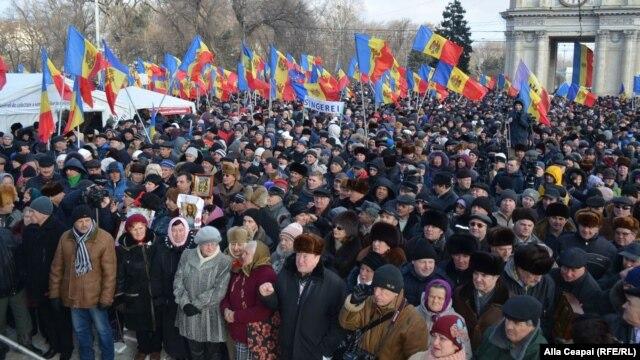 Протест у Кишиневі,  24 січня 2016 року