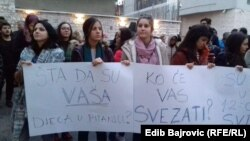 Sa protesta ispred Parlamenta FBiH