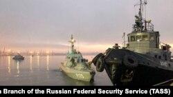 Задержанные у берегов Крыма украинские корабли