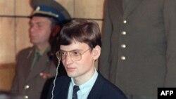 Mathias Rust u sudnici, Moskva, 1987.