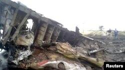 Обломки самолета «Боинг-777» рейса MH17. Грабово, Донецкая область, 17 июля 2014 года