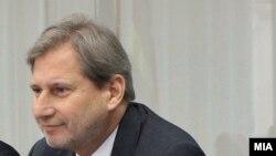 Еврокомесарот за соседска политика и преговори за проширување Јоханес Хан