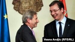 Johanes Han i Aleksandar Vučić u Beogradu, ilustrativna fotografija
