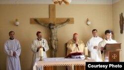 A Catholic religious ritual in Gori, Georgia (file photo)
