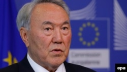 Қазақстан президенті Нұрсұлтан Назарбаев. Брюссель, 9 қазан 2014 жыл.