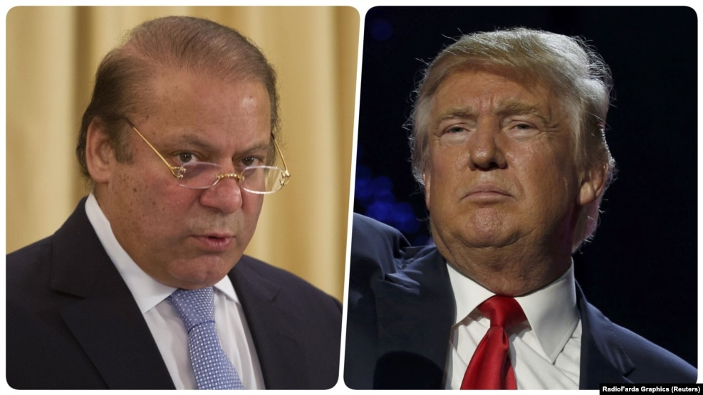 Pakistan Prime Minister Nawaz Sharif (left) and U.S. President-elect Donald Trump (combo photo)