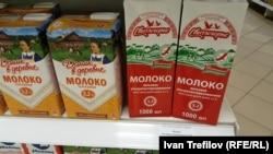 Молоко на московском прилавке