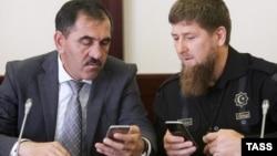 Глава Ингушетии Юнус-Бек Евкуров и его чеченский коллега Рамзан Кадыров не скрывают своей тяги к соцсетям