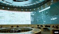O hartă cu localizarea apărării anti-aeriene din Ucraina prezentată la Moscova