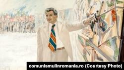 Vizită de lucru; autori: Ion Vinţan, Vladimir Setran, anii 1980. Sursa comunismulinromania.ro (MNIR)