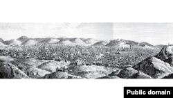 منظره تبریز، حدودا سال ۱۶۷۰