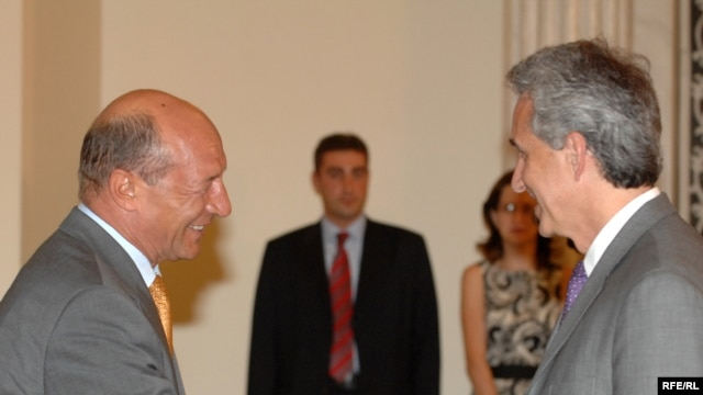 Gedmin and Romanian President Basescu